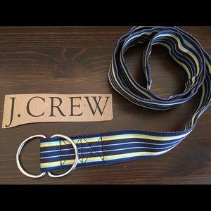 J. CREW preppy woven fabric striped belt EXC S/M